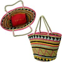 Urlaub Sommer Strand Tasche Handtasche ESPRIT TrageSchultertasche Material weich