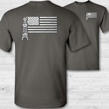 Oilfield Arbeiter US Flagge T-Shirt American Roughneck Hemd USA - W