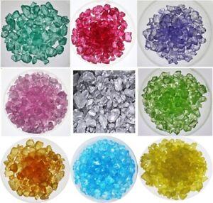 Deko -Glassteine 4-10 mm: Rosa, Blaugrün, Rot, Violett, Grün (1 kg)