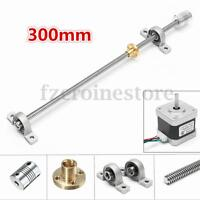 3D Printer T8 250-1000mm Lead Screw Rod Bar Coupling Shaft Mount+Screw Nut+Motor