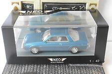 MITSUBISHI SAPPORO MKI COUPE BLUE METAL 1982 NEO 43441 1/43 LHD LEFT HAND DRIVE