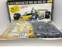 Heller 1/12 Scale Renault RE 20/RE 23 Formula I Racer open box Model Kit Vintage