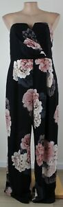 Elegant CITY CHIC Near New Floral Strapless Jumpsuit - Size S (16)