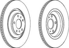 Ferodo DDF1935C Rear Axle Vented Coated Brake Disc Set Replaces 3D0615601