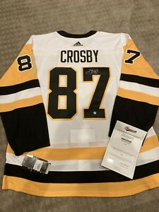 Pittsburgh Penguins Sidney Crosby Autographed Adidas Pro Away  Jersey Frameworth