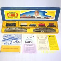 A VINTAGE 1957 3 RAIL HORNBY DUBLO EDG17 0-6-2T GOODS TRAIN SET BOXED, EXCELLENT