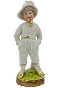 Nippes Biskuit Porzellan Figurenvase gemarkt fein ausgeformt 16cm hoch um 1900