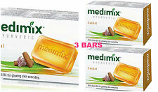 3 BARS Medimix 125grams SANDAL SOAP ELADI OIL AYURVEDIC Skin Protection USA SELR
