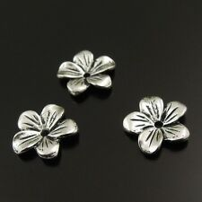 80pcs Flower Shape Beads Vintage Silver Torus Alloy Spacer Gasket Crafts 02957