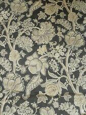 "Sanderson Curtain Fabric Design ""shalimar"" Graphite & Mole Velvet 3 Metres"