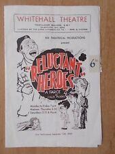 WHITEHALL THEATRE PROGRAMME 1950 RELUCTANT HEROES - BRIAN RIX - WITH TICKETS