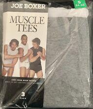 Joe Boxer ~ Sleeveless Muscle T-Shirts ~ Men's Size S 34-36 ~ 3 Pack ~ NEW
