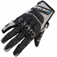Guanti bianchi per motociclista tessuto , Taglia XL
