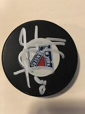 Henrik Lundquist New York Rangers Autographed Authenticated Puck