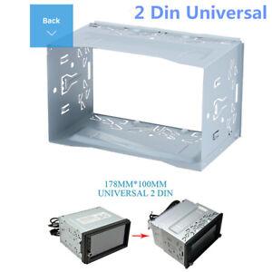 1X2DIN Metal Fascia Mounting Cage Dash Kit for Car Radio DVD Stereo Installation