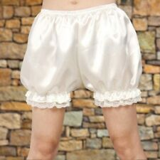 Women Lace Satin Bubble Bloomers Knicker Panties Safety Underwear Shorts Cosplay