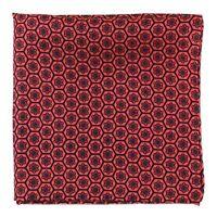 New Silk Print Hexagon Pattern Pocket Square Formal Wear Dress Suit Handkerchief