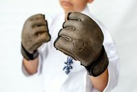 """Leather MMA Gloves """"SPARTACUS"""" Made By Victorbudo USA 🇺🇸 Reg $89 Sale $49"""