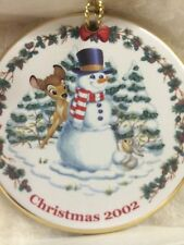 Retired Disney Disc Ornament 2002 Bambis First Snowfall NEW old Stock