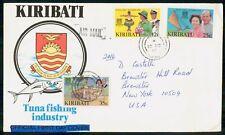 Mayfairstamps KIRIBATI FDC 1992 COVER TUNA FISHING INDUSTRY COMBO wwm17955