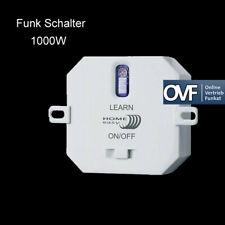Home Easy HE886 Funk Einbauschalter Funkschalter Unterputz AN / AUS bis 1000W