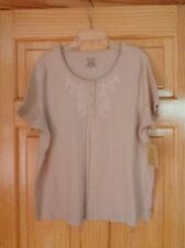 NWT Classic Elements Womens Beige Petite Top Size 18