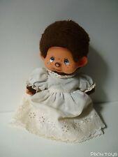 Peluche Kiki Monchhichi Sekiguchi Vintage ( 20cm ) avec robe de mariée / Ajena