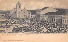 CARUARU, PERNAMBUCO, BRAZIL ~ TOWN PLAZA & FAIR OVERVIEW, PEOPLE used 1911