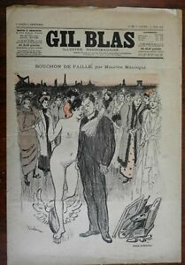 Steinlen Artist and Muse 1893 French color poster art style prints Gil Blas