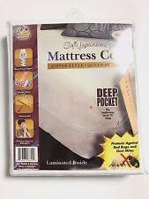 """MATTRESS COVER ZIPPERED DEEP POCKET 16"""" SOFT LUXURIOUS FABRIC QUEEN SIZE 60""""X80"""""""