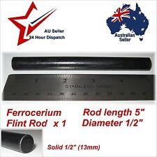 "Ferrocerium Flint Rod X 1  HUGE 5"" x 1/2"" (130mm x 13mm) Fire Starter Ferro Rod"