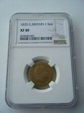 More details for 1820 sovereign king george iii ngc xf40 full gold sovereign coin