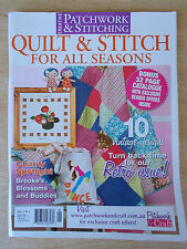 Patchwork & Stitching Vol 15 #4~Quilts~Remembrance Poppy~Diva Dolls~Rockabilly