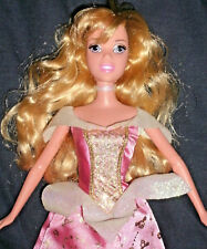 Disney Barbie Sleeping Beauty doll. Clothes: Pink ball gown, dress & shoes