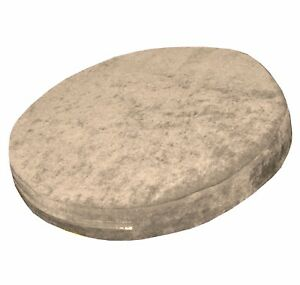 ma05r Khaki Chenille 3D Round Shape Thick Seat Cushion Cover Custom Size
