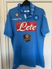 Napoli Match Issue Home Shirt Inler New Size Large