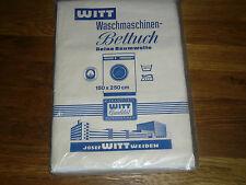 2 alte Bettlaken / Betttücher  Weiss  Baumwolle Witt Weiden  Vintage  UNBENUTZT