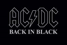 AC/DC BACK IN BLACK ROCK MUSIC PICTURE POSTER, size 24x36