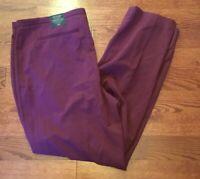 Lane Bryant NWT Women's Sz 20 The Sophie Straight Leg Dress Burgundy Red Pants