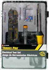 Trades Pro Electric Soldering Iron Kit Wire Stripper Crimping Pliers 836335