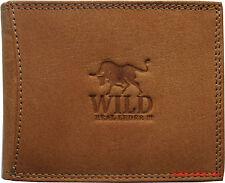 Hochwertige Geldbörse Geldbeutel Portemonnaie Büffel Leder Stier Wild Style