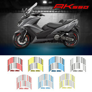 FOR KYMCO AK550 MOTORCYCLE RIM STRIPES WHEEL DECALS TAPE STICKERS STEREO PASTERS