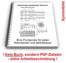 Heizmatte selbst bauen - elektrisches Heizkabel Flächenbeheizung Technik Patente