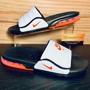 Nike Air Max Camden Men's Sandals Slides Size 10 Hot Orange Black NEW BQ4626-009