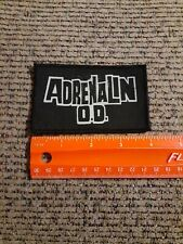 Adrenalin O.D. Rock Band Sew on Cloth Patch NEW
