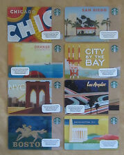 Starbucks - Complete Set of 8 USA 2013 Regional Cards  - MINT RARE Hard To Find