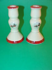Royal Seasons Stoneware Pair Candleholders