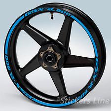 Adesivi cerchi moto Suzuki GSXR 600 strisce ruote Suzuki GSX R 600 gsx-r 600