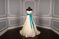Deep Turquoise Double Faced Satin Ribbon Sash Bridal Wedding Bridesmaid New