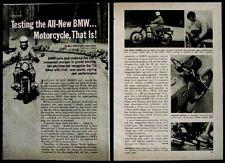BMW R60/5 Motorcycle 1970 original Road Test article